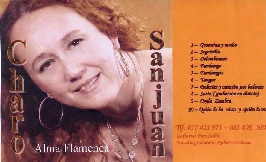 """Tiene programada la edición del disco """"Alma Flamenca"""" para este mismo año, del que hemos sido privilegiados , al poder disfrutar de su maqueta, cuya carátula traemos hasta este mundo virtual."""