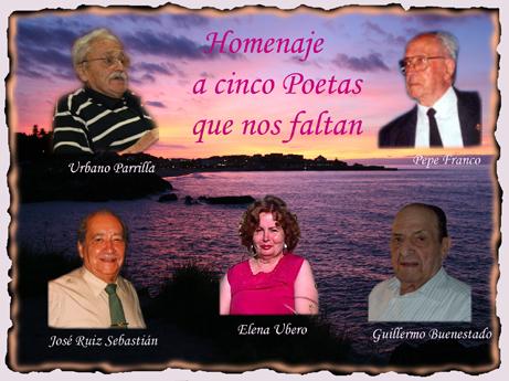 Homenaje a cinco Poetas que nos faltan